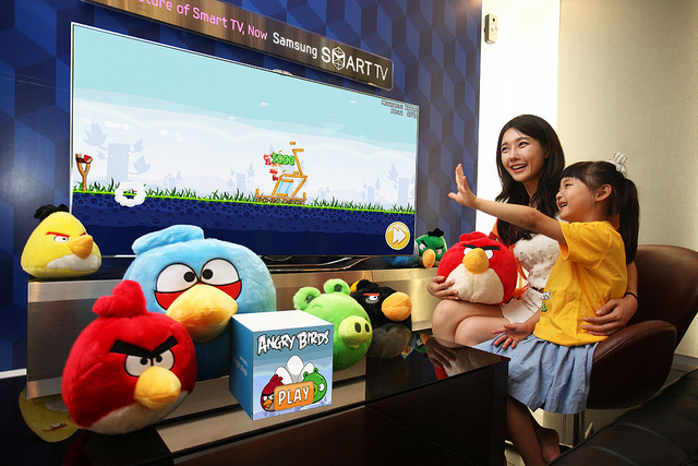 Angry Birds crashing into Samsung Smart TV-equipped living rooms