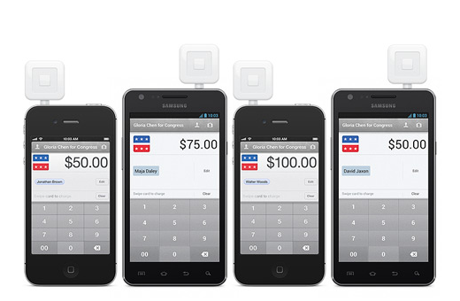 Square makes it easier for political campaign staff members to collect card payments