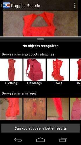 2 Goggles results Google Goggles latest update makes it easier to shop IRL