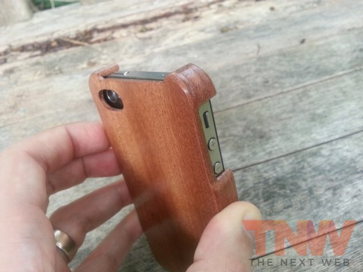 20120809 111600wtmk 520x390 TNW Review: The Carve Case offers handmade, lightweight wooden protection for your iPhone