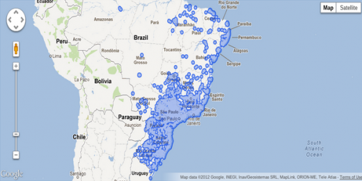 Google Gives Brazil Mexico More Panoramic Street Views - Google map of brazil
