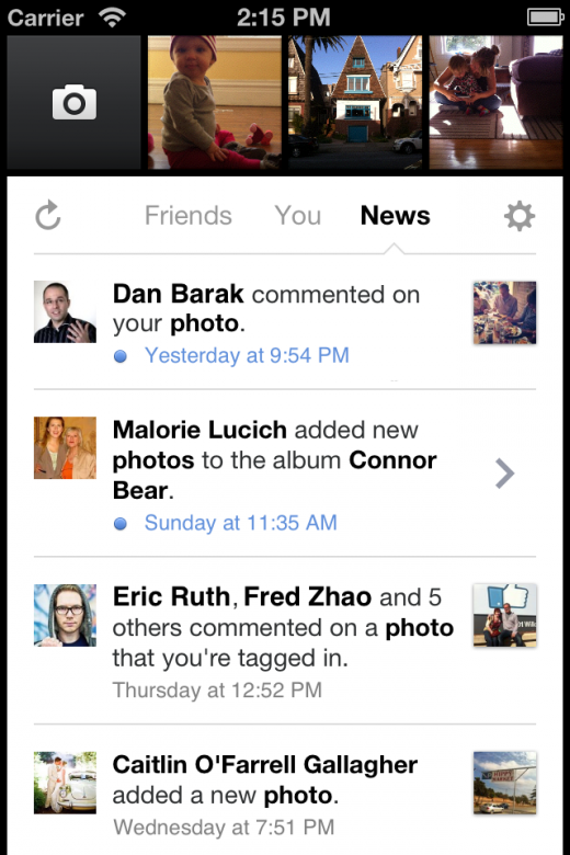Camera 1.1 520x780 Facebook updates its Camera app to include notifications and uploading photos to specific albums
