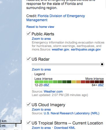 Convo 132 Google updates its emergency preparedness map for Tropical Storm Isaac in Florida