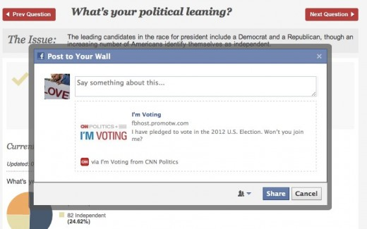 I m Voting from CNN Politics on Facebook 520x325 Facebook launches its Im Voting App with CNN