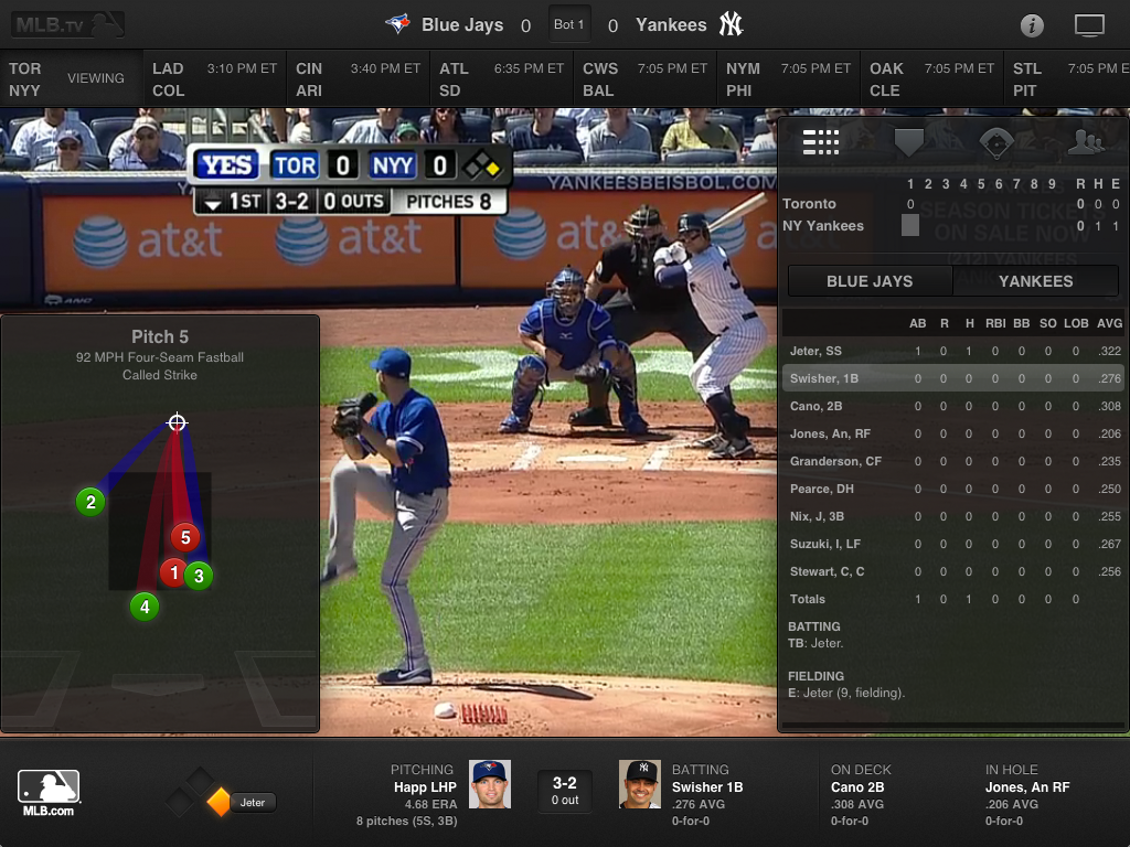 Ford Sync Iphone >> MLB At Bat Gets Live Overlay of Gameday Stats Onto TV Broadcast