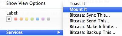 Mount It option on MacBook pro