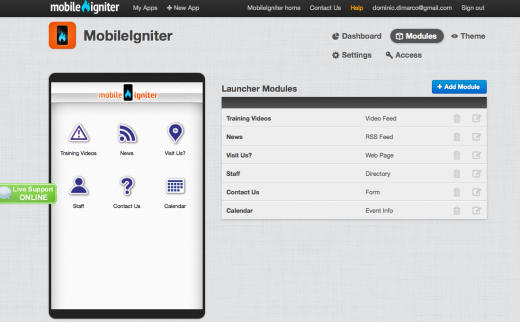 Screen Shot 2012 08 13 at 8.24.50 PM 520x322 MobileIgniter: Your Web developer can now build a fully custom mobile app, additional revenue included