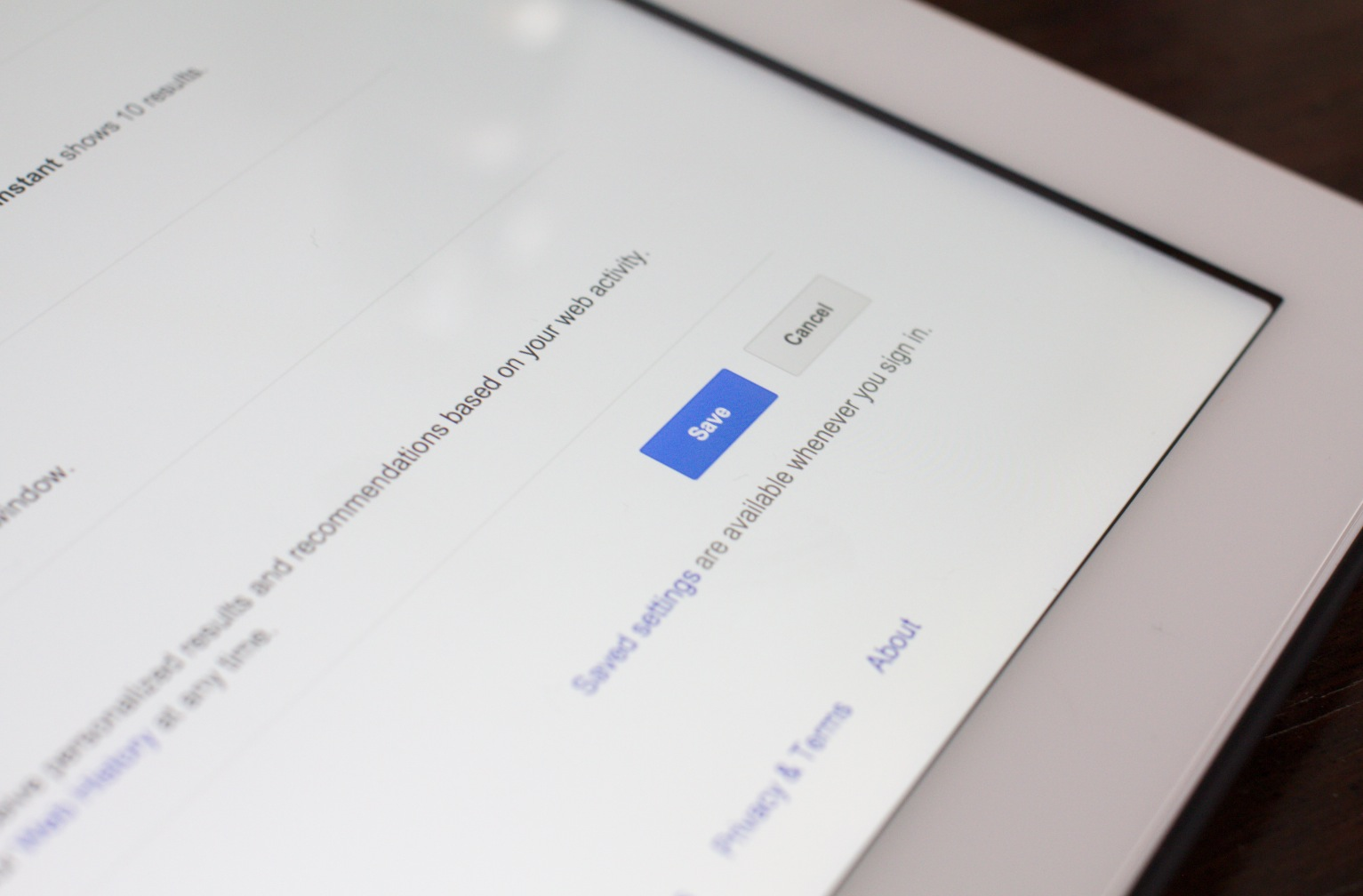 Google now lets you bring your saved search settings to any logged-in browser