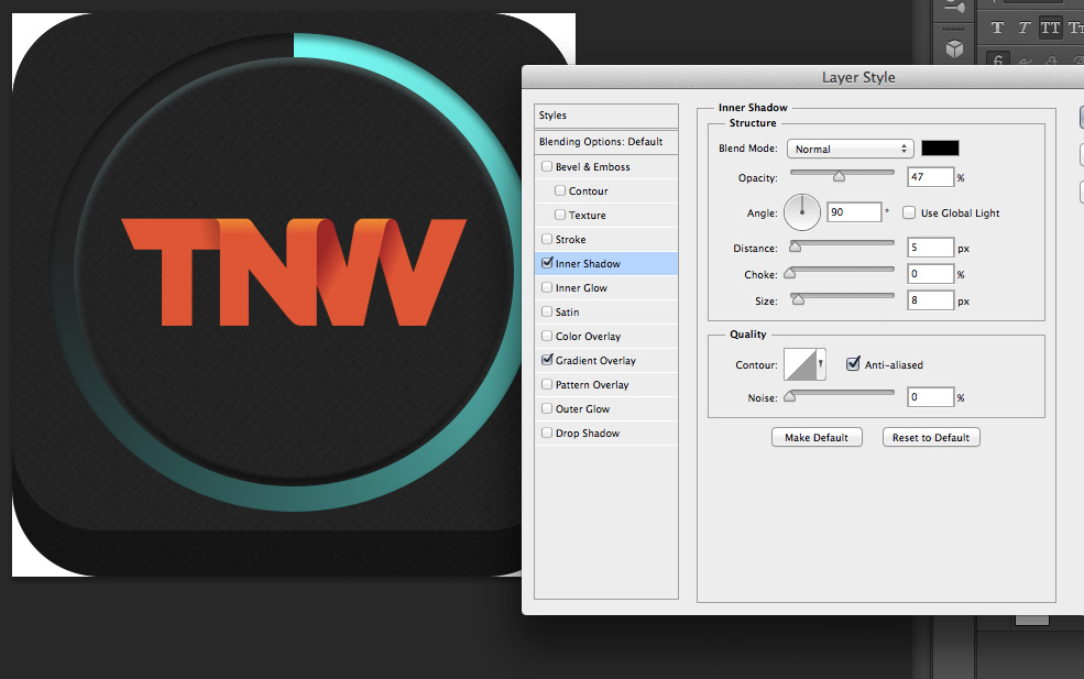 TNWTron SC11 How to create an awesome Tron inspired app icon