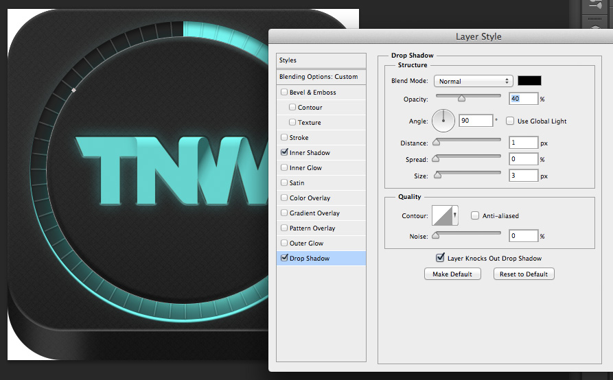 TNWTron SC26 How to create an awesome Tron inspired app icon