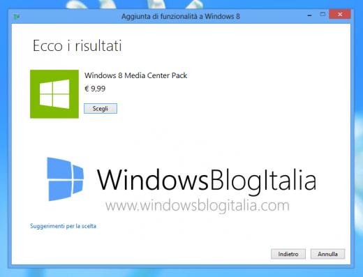 Стоимость Windows Media Center Pack составит порядка 10