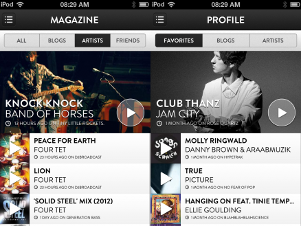 c3 TNW Pick of the Day: Shuffler.fm takes its Flipboard for music discovery app to the iPhone