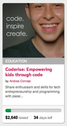 coderise on indiegogo 220x412 Coderise will teach kids how to code in developing nations, starting with Colombia