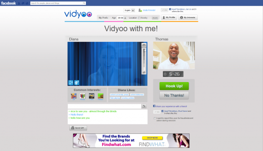 d1 520x300 TNW Pick of the Day: Vidyoos video chat app is like speed dating for the Facebook generation