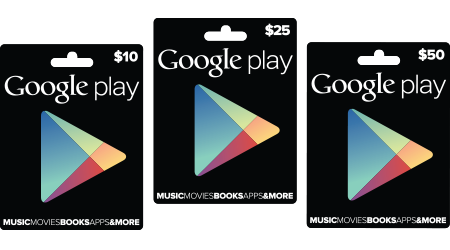 google play giftcards Google officially announces physical Google Play gift cards at Target, GameStop and RadioShack