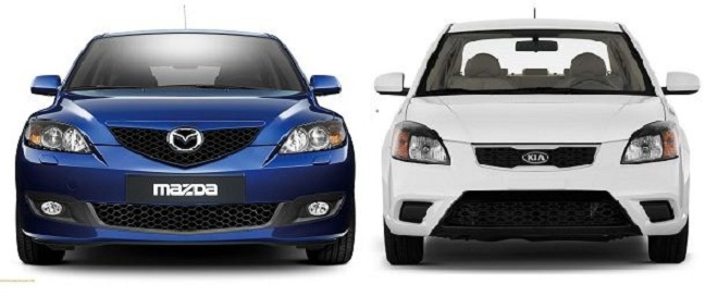 Head to head: Mazda 3 vs Kia Rio in the budget-geek auto showdown