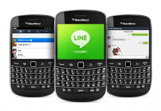 line bb 520x358 Messaging app Line comes to BlackBerry to rival RIMs BBM service and grow its Southeast Asian presence
