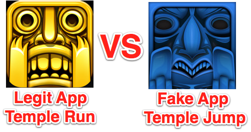 temple run vs temple jump done cropped1 1 Apple may now be rejecting some App Store submissions if they clone icons of popular apps