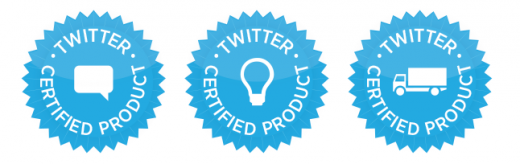 three cert prod badges 520x164 Twitter launches Certified Products Program to promote services that leverage its data