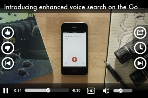 vodio player 520x346 Video discovery app Vodio lands on the iPhone, launches Highlights feature