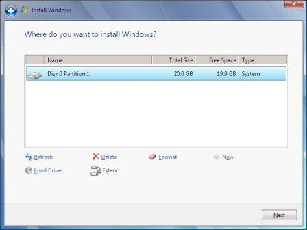 Windows 7 partition on MacBook Pro