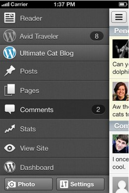 wpaapp23434 WordPress for iOS updated, has major UI refresh and some great new features