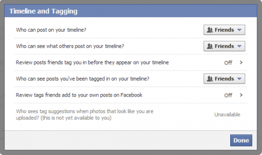 facebook timeline privacy 3 520x308 How to remove all your old Facebook wall posts, public or private, from your Timeline