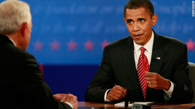 Barack Obama debates John McCain in the 2008 Presidential Debate