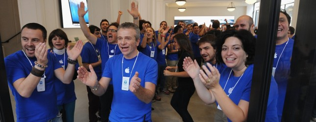 Apple Store Opening In Turin