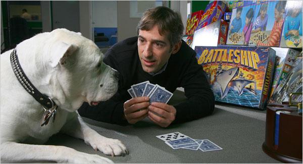 Mark Pincus and his dog Zinga