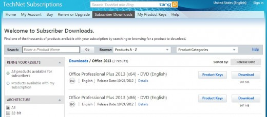 2012 10 24 10h44 21 520x229 Microsoft Office 2013 is a go for TechNet and MSDN subscribers