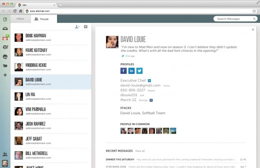Alto - people search screenshot