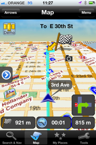 how to use apple maps as sat nav
