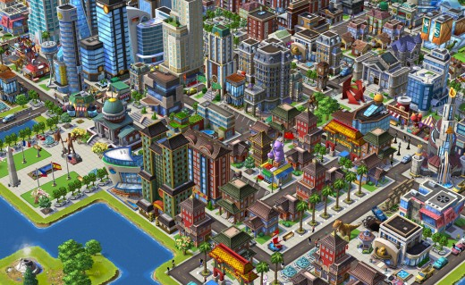 CityVille2  Chinatown Daytime 520x319 Amid Zyngas layoffs and shuttering of games, the social game company launches CityVille 2 on Facebook
