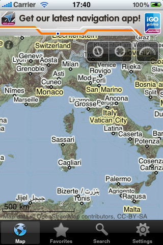 europe map for tomtom free