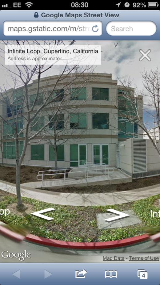 IMG 4323 520x923 Google Street View now live in the Google Maps iOS Web app
