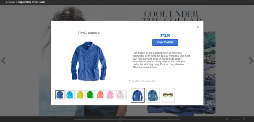 JcrewProduct8.30 520x250 Google Catalogs moves beyond tablets and onto the Web through Google Shopping
