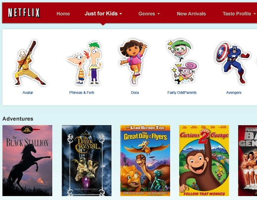 """Netflix """"Just For Kids"""" Now Available On iPad"""