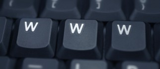 www - spelled in keys on a laptop