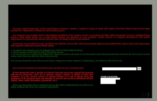 RansomWare EncryptionScare1 520x336 Warning: Skype users attacked by lol is this your new profile pic? ransomware and click fraud