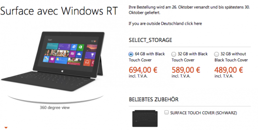 Screen Shot 2012 10 16 at 8.41.26 AM 520x263 Want to pre order a Microsoft Surface RT tablet? Heres the international price list and purchase links you need