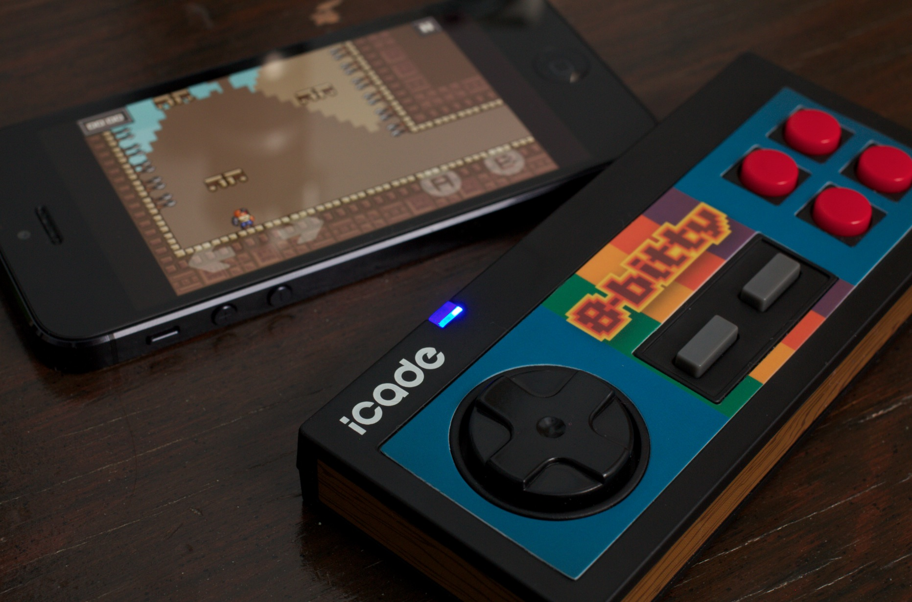 The 8-Bitty controller for iOS & Android is fantastic, as long as your favorite game supports it ...