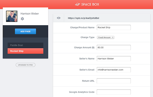 Screen Shot 2012 10 24 at 5.13.09 PM Space Box: This service lets non developers accept payments with Stripe