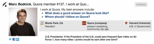Screen Shot 2012 10 29 at 11.42.06 AM 520x150 Quora recognizes its 492 most valuable users with the Top Writers badge