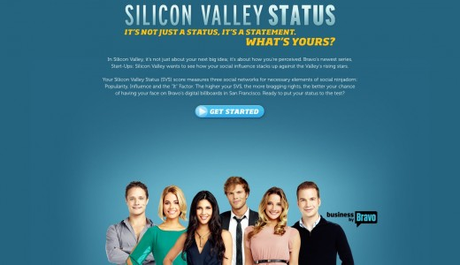 Screen shot 2012 10 24 at 5.54.02 PM 520x300 Silicon Valley Status: does your influence stack up against the Start Ups: Silicon Valley cast?