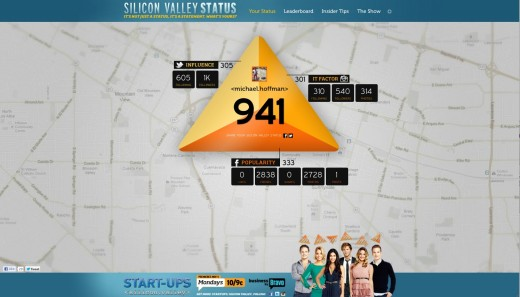 Screen shot 2012 10 24 at 6.05.46 PM 520x297 Silicon Valley Status: does your influence stack up against the Start Ups: Silicon Valley cast?
