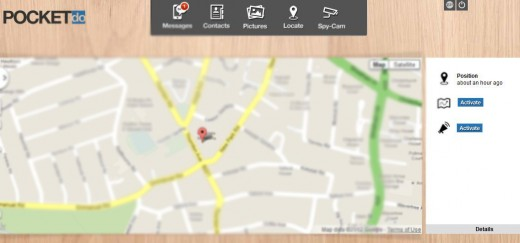 Screenshot 4 520x243 Pocket.do: Control your Android phones camera from a browser and locate it on a map if its stolen