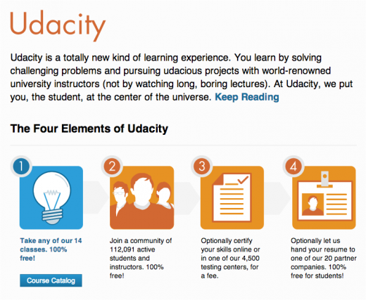 Udacity screenshot