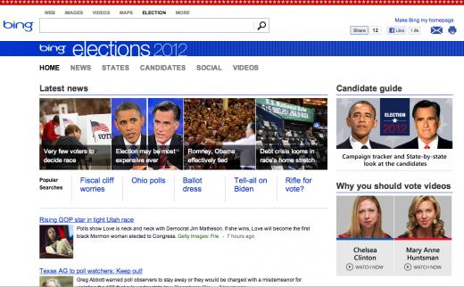 Bing Elections screenshot