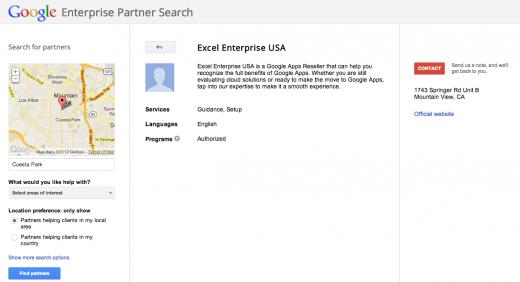Google Enterprise Partner Search